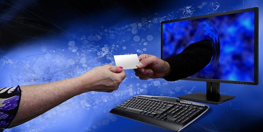 כרטיס ביקור שניתן מהמחשב לאדם