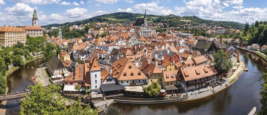 העיירה צ'סקי קרומלוב - בוהמיה, צ'כיה