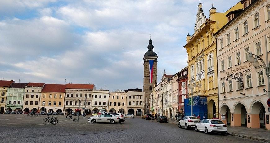 כיכר בעיר צ'סקה בודייוביצה, צ'כיה