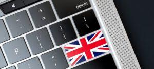 מקלדת אנגלית עם דגל אנגליה