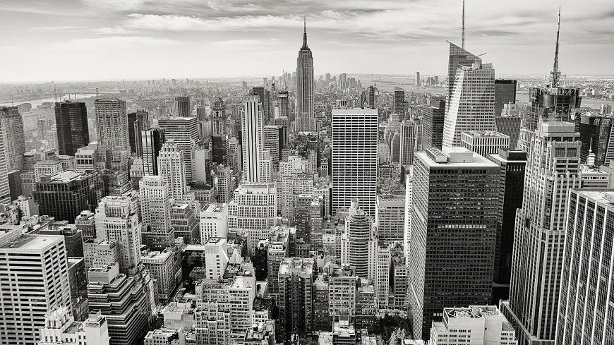 ניו יורק מלמעלה בשחור לבן