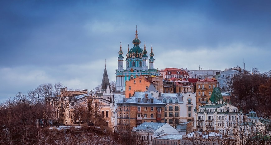 מבנים עתיקים בקייב בירת אוקראינה